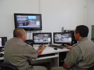 Videomonitoramento em pleno funcionamento