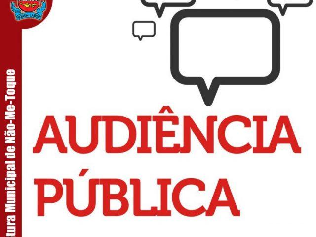 Audiência Pública de Pavimentação será realizada em etapas