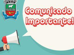 Comunicado da Secretaria de Saúde