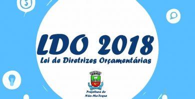 LDO aponta orçamento para o Município em 2018