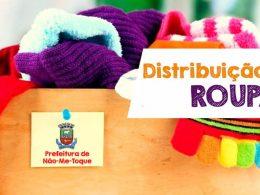 Assistência Social promove Distribuição de Roupas dia 30 de Novembro