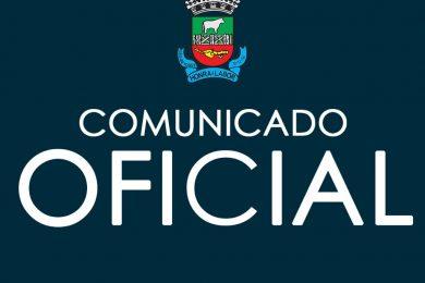 Comunicado Oficial da Assessoria de Comunicação em relação ao Período Eleitoral