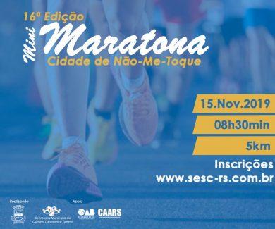 16ª Mini Maratona Cidade de Não-Me-Toque está chegando!