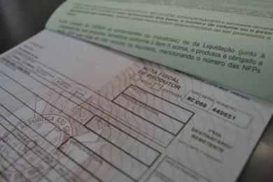 Emissão de Nota Fiscal de Produtor é dispensada temporariamente