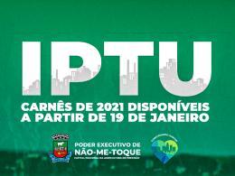 Carnês do IPTU 2021 estarão disponíveis a partir da próxima terça-feira
