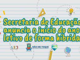 Secretaria de Educação anuncia o início do ano letivo de forma híbrida