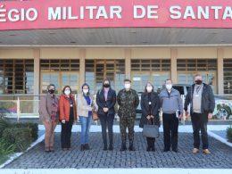 Equipe do Poder Executivo visita Colégio Militar de Santa Maria