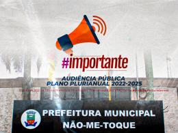 Plano Plurianual será apresentado em live no dia 30 de junho