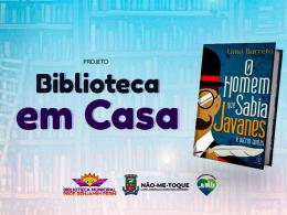 """Prefeitura lança projeto """"Biblioteca em Casa"""" como forma de incentivo à leitura"""