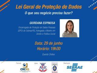 SEBRAE disponibiliza treinamento gratuito sobre a Lei Geral de Proteção de Dados