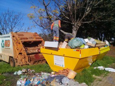 Departamento de Meio Ambiente realiza limpeza de 50 pontos de descarte irregular de resíduos