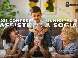 Poder Executivo transmite a 12ª Conferência Municipal da Assistência Social nesta quarta-feira