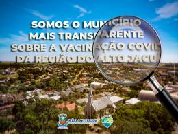 Não-Me-Toque é o município mais transparente sobre a vacinação covid-19 na região do Alto Jacuí