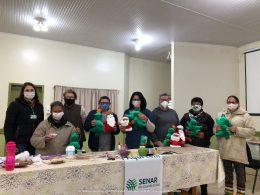 Executivo e Sindicato Rural concluem curso de Artesanato com Material Reciclável