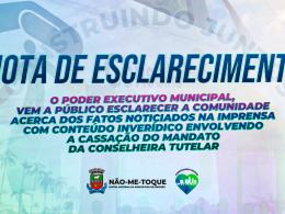 Nota de Esclarecimento sobre a cassação do mandato da Conselheira Tutelar no município