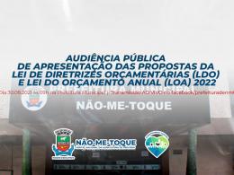 Em live no dia 30 de agosto, Executivo apresentará as propostas da LDO e LOA 2022
