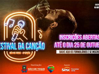 Inscrições abertas para a 2ª Edição do Festival da Canção de Não-Me-Toque